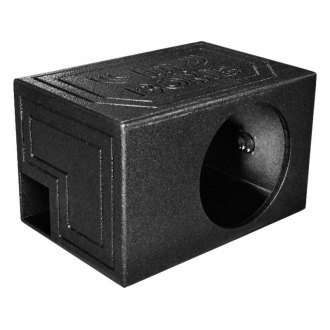 "QPower® - 12"" QBomb Series Single Hole Vented Sprayed Subwoofer Box"