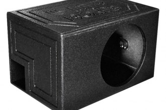 "QPower® - 12"" QBomb Series Single Round Holes Vented Sprayed Subwoofer Box"