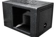 "QPower® - 12"" QBomb Series Single Square Hole Vented Subwoofer Box"