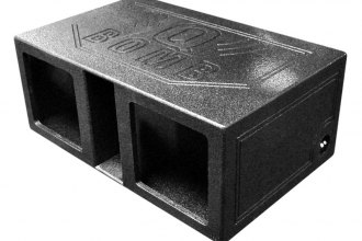 "QPower® - 12"" QBomb Series Dual Square Holes Vented Subwoofer Box"