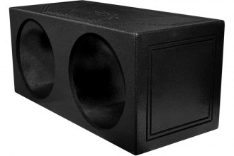 "QPower® - 15"" Dual Sealed Subwoofer Enclosure with Bed Liner Spray"