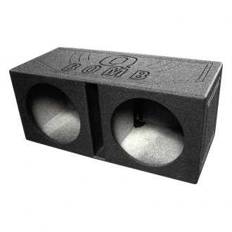 "QPower® - 15"" QBomb Series Dual Holes Vented Sprayed Subwoofer Box"