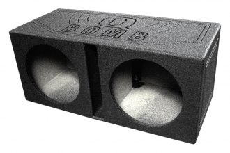 "QPower® - 15"" QBomb Series Dual Round Holes Vented Sprayed Subwoofer Box"