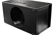 "QPower® - 15"" QBomb Series Single Round Hole Vented Subwoofer Box"