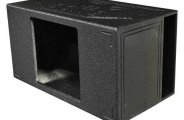 "QPower® - 15"" QBomb Series Single Square Hole Vented Subwoofer Box"
