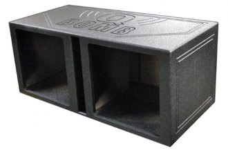 "QPower® - 15"" QBomb Series Dual Square Holes Vented Subwoofer Box"