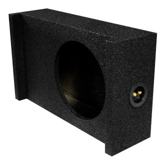 "QPower® - 10"" Shallow Mount Downward-Firing Sealed Subwoofer Box"
