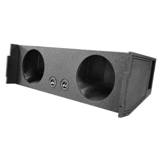 "QPower® - 12"" QBomb Series 2-Hole Downward-Firing Vented Subwoofer Enclosure"
