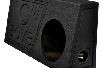 "QPower® - 10"" Single Truck Ported SPL Empty Subwoofer Box with Bed Liner Spray"