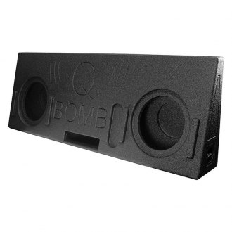 "QPower® - 10"" QBomb Series 2-Hole Forward-Firing Ported Subwoofer Enclosure"