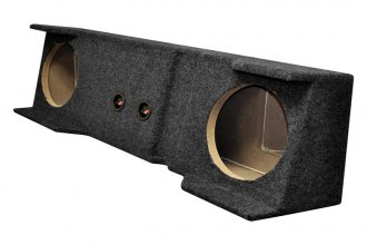 "QPower® - 10"" Empty Subwoofer Box Chevy/GMC Under Seat Downfire"