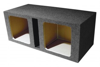 "QPower® - 12"" Heavy Duty Series Dual Square Holes Vented Subwoofer Box"