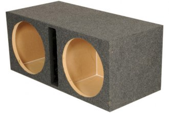 "QPower® - 15"" Heavy Duty Series Dual Round Holes Vented Subwoofer Box"