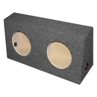 "QPower® - 10"" Dual Holes Angled Subwoofer Box"