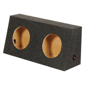 "QPower® - 12"" Dual Holes Angled Subwoofer Box"