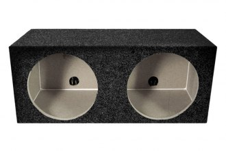 "QPower® - 10"" Solo Series Dual Square Subwoofer Box (All MDF)"