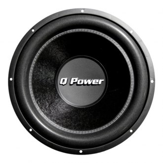 "QPower® - 10"" Deluxe Series 1700W 4 Ohm DVC Subwoofer"