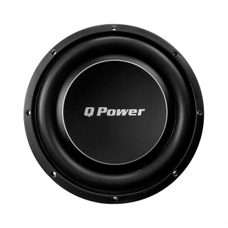 "QPower® - 10"" Deluxe Series 1000W 4 Ohm SVC Subwoofer"