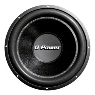 "QPower® - 12"" Deluxe Series 1700W 4 Ohm DVC Subwoofer"