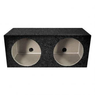 "QPower® - 10"" Solo Series Dual Square Holes MDF Front Subwoofer Box"