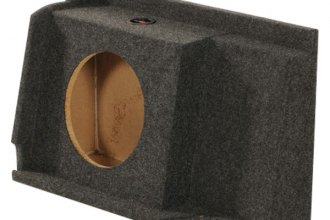 "QPower® - 12"" Single Hole Under Seat Downfiring Subwoofer Box"