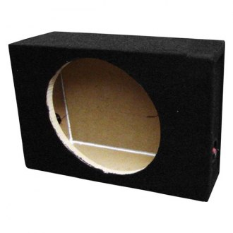 "QPower® - 10"" Truck Series Single Shallow Mount Sealed Subwoofer Box"