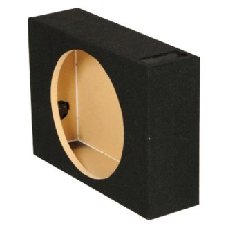 "QPower® - 12"" Truck Series Single Shallow Mount Vented Subwoofer Box"