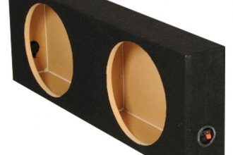 "QPower® - 12"" Dual Holes Shallow Mount Sealed Subwoofer Enclosure"
