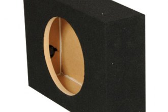 "QPower® - 12"" Truck Series Single Hole Shallow Mount Sealed Subwoofer Enclosure"