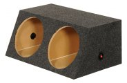 QPower® - Small Bass Series Dual Angled Sealed Subwoofer Boxes