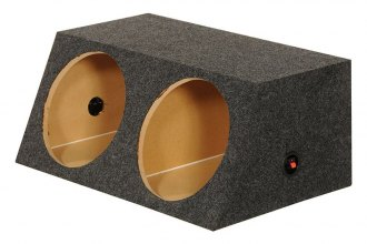 "QPower® - 10"" Small Bass Series Dual Angled Sealed Subwoofer Box"