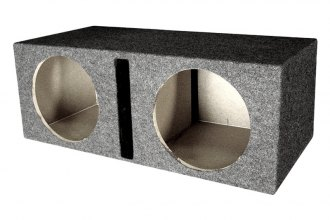 "QPower® - 10"" Small Bass Series Dual Straight Vented Subwoofer Box"