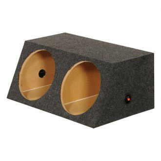 "QPower® - 12"" Small Bass Series Dual Angled Sealed Subwoofer Box"