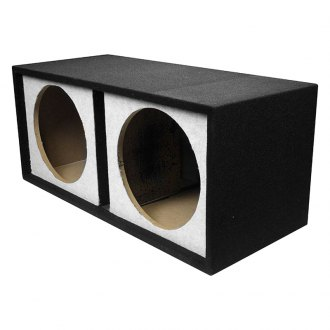 "QPower® - 12"" Small Bass Series 2-Holes Vented Subwoofer Box"