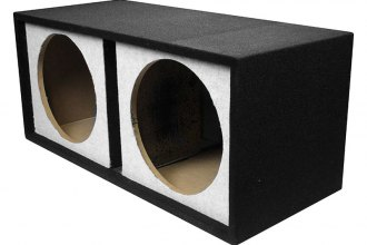 "QPower® - 12"" Small Bass Series Dual Straight Vented Subwoofer Box"