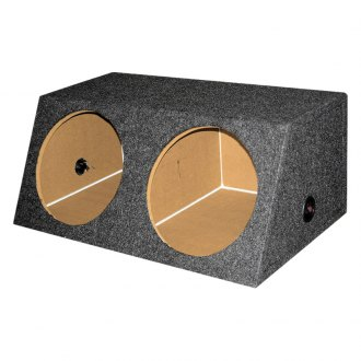 "QPower® - 15"" Small Bass Series 2-Hole Sealed Subwoofer Box"