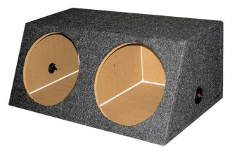 "QPower® - 15"" Small Bass Series Dual Angled Sealed Subwoofer Box"