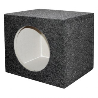 "QPower® - 10"" Solo Series Single Square All MDF Subwoofer Box"