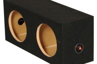 "QPower® - 8"" Solo Series Dual Hole Sealed Subwoofer Box"
