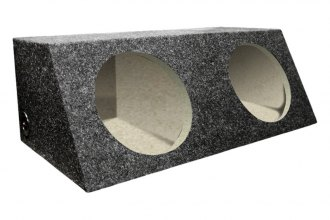 "QPower® - 12"" Dual Straight Hatchback Subwoofer Box"