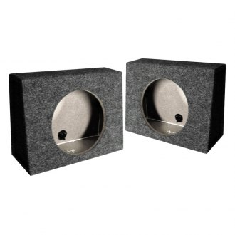 "QPower® - 10"" Twin Series Sealed Subwoofer Boxes"