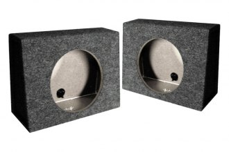 "QPower® - 10"" Twin Series Angled Single Subwoofer Boxes"