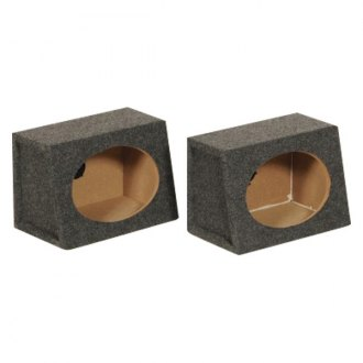 "QPower® - 6"" x 9"" Series Single Angled Carpet Subwoofer Boxes"