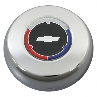 QRP® - Steering Wheel Horn Center Cap with White Bowtie on Black