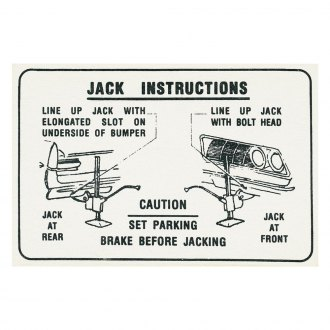 QRP® - Jacking Instruction Decal