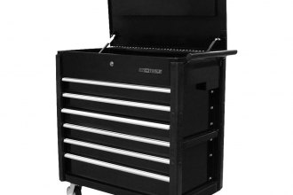 Quality craft 24966 black 6 drawer professional tool cart for Quality craft tool box