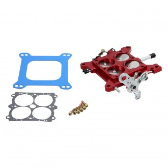 "QFT® - 1-3/4"" Red Billet Vacuum Secondary Throttle Body Assembly with SS Plates"