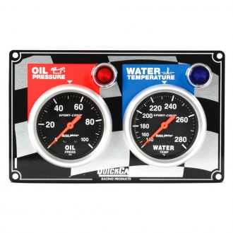QuickCar Racing® - Auto Meter Sport-Comp 2-Gauge Panel (Oil Pressure/Water Temp)