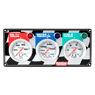 QuickCar Racing® - Auto Meter Ultra-Lite 3-Gauge Panel (Oil Pressure/Water Temp/Fuel Pressure)