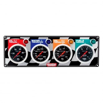 QuickCar Racing® - Auto Meter Sport-Comp 4-Gauge Panel (Oil Pressure/Water Temp/Oil Temp/Fuel Pressure)